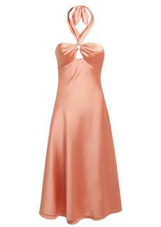 Jonathan Simkhai Satin Halterneck Slip Dress