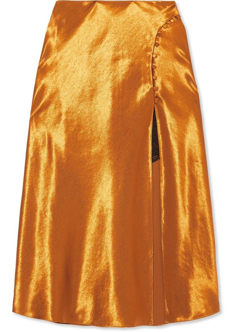 Jonathan Simkhai Satin Midi Skirt