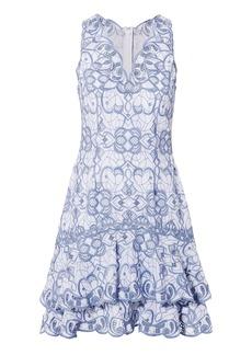 Jonathan Simkhai Scalloped Embroidered Mini Dress
