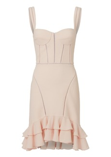 Jonathan Simkhai Seersucker Bustier Mini Dress