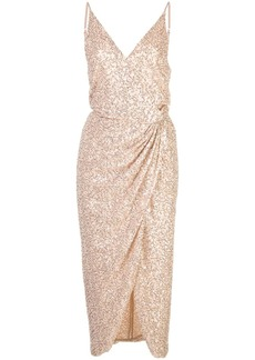 Jonathan Simkhai sequin wrap dress