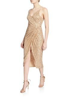 Jonathan Simkhai Sequined Sleeveless Wrap Dress