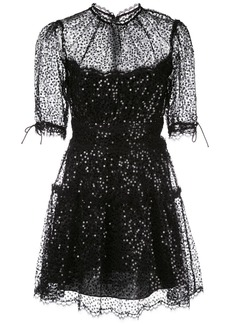 Jonathan Simkhai sequinned lace mini dress