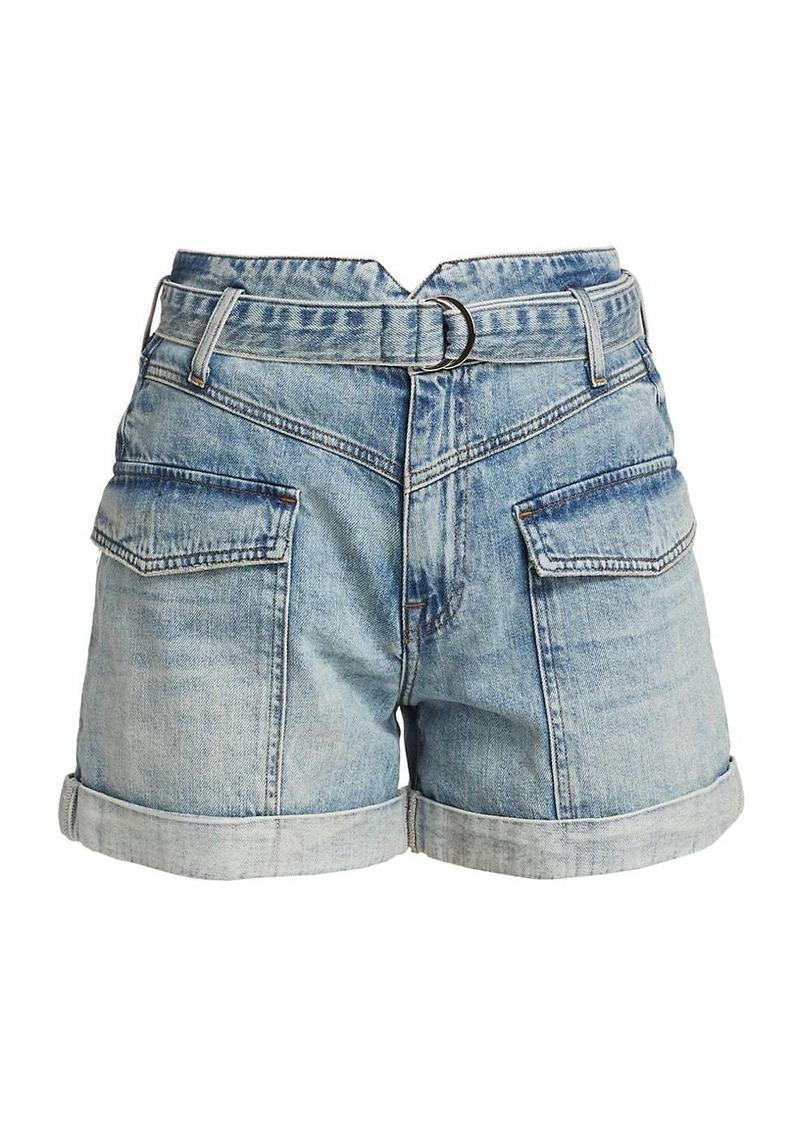 Sierra Denim Utility Shorts