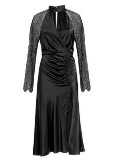 Jonathan Simkhai Silk & Lace Keyhole Dress