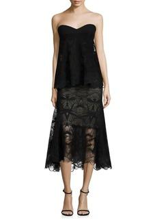 Jonathan Simkhai Strapless Layered Lace Dress
