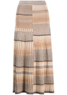 Jonathan Simkhai stripe-pleat knitted skirt