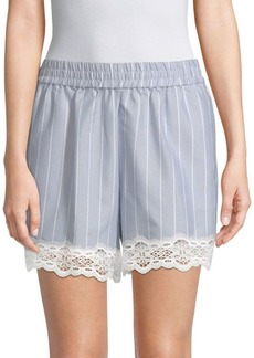 Jonathan Simkhai Striped Cotton Poplin Shorts