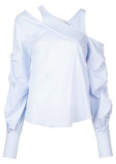 Jonathan Simkhai striped asymmetric top