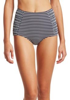 Jonathan Simkhai Striped High Waisted Bikini Bottom