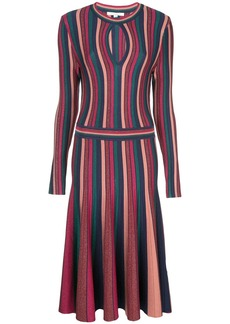 Jonathan Simkhai striped pleated detail dress