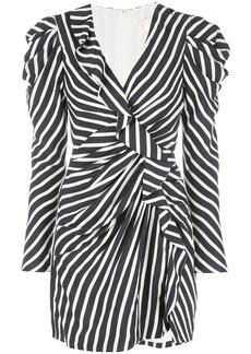 Jonathan Simkhai striped ruffle mini dress