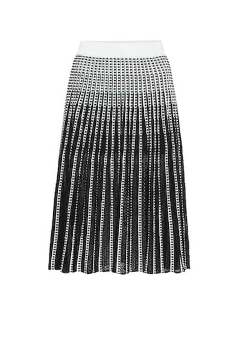 Jonathan Simkhai Striped stretch-knit midi skirt
