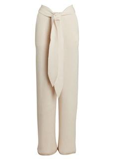 Jonathan Simkhai Tala Tie-Waist Rib Knit Pants