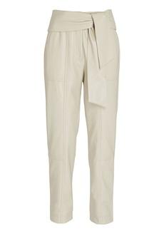 Jonathan Simkhai Tessa Tie-Waist Vegan Leather Pants