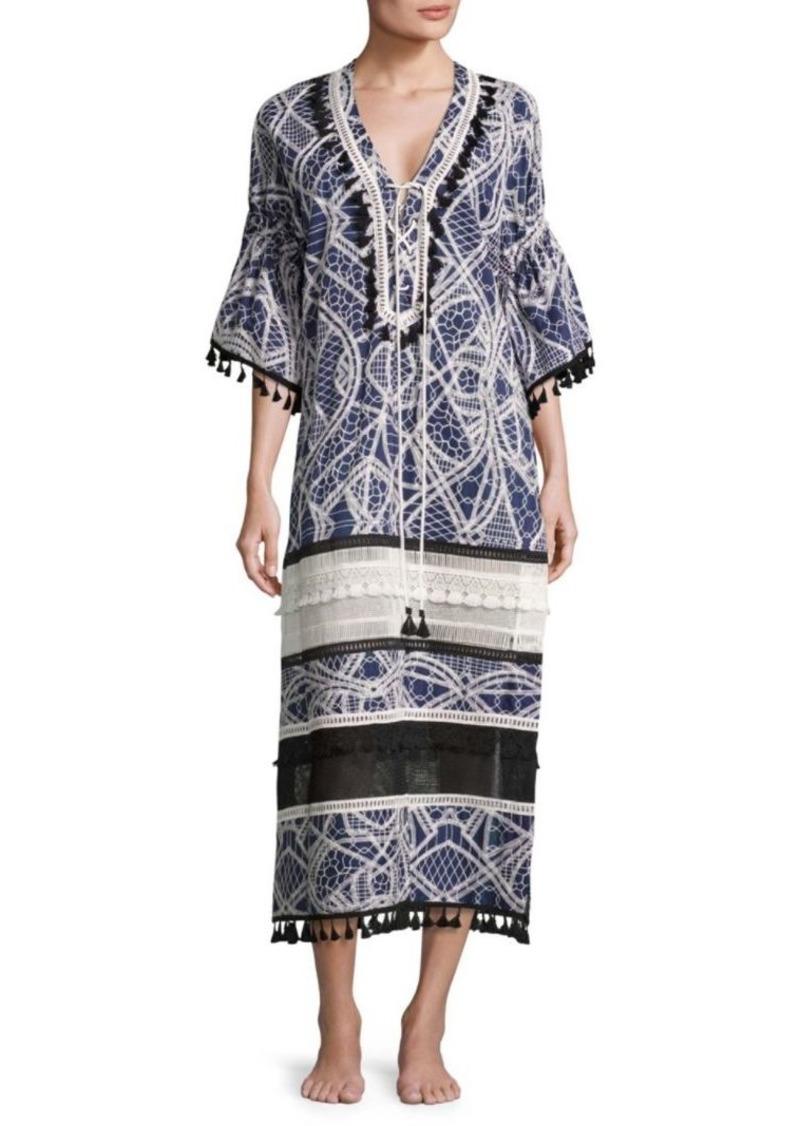 Jonathan Simkhai Thread Embroidered Caftan