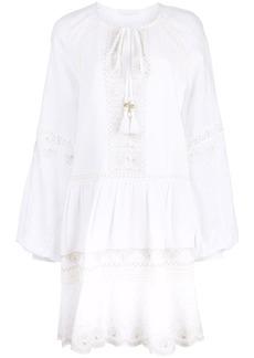 Jonathan Simkhai thread embroidered peasant dress