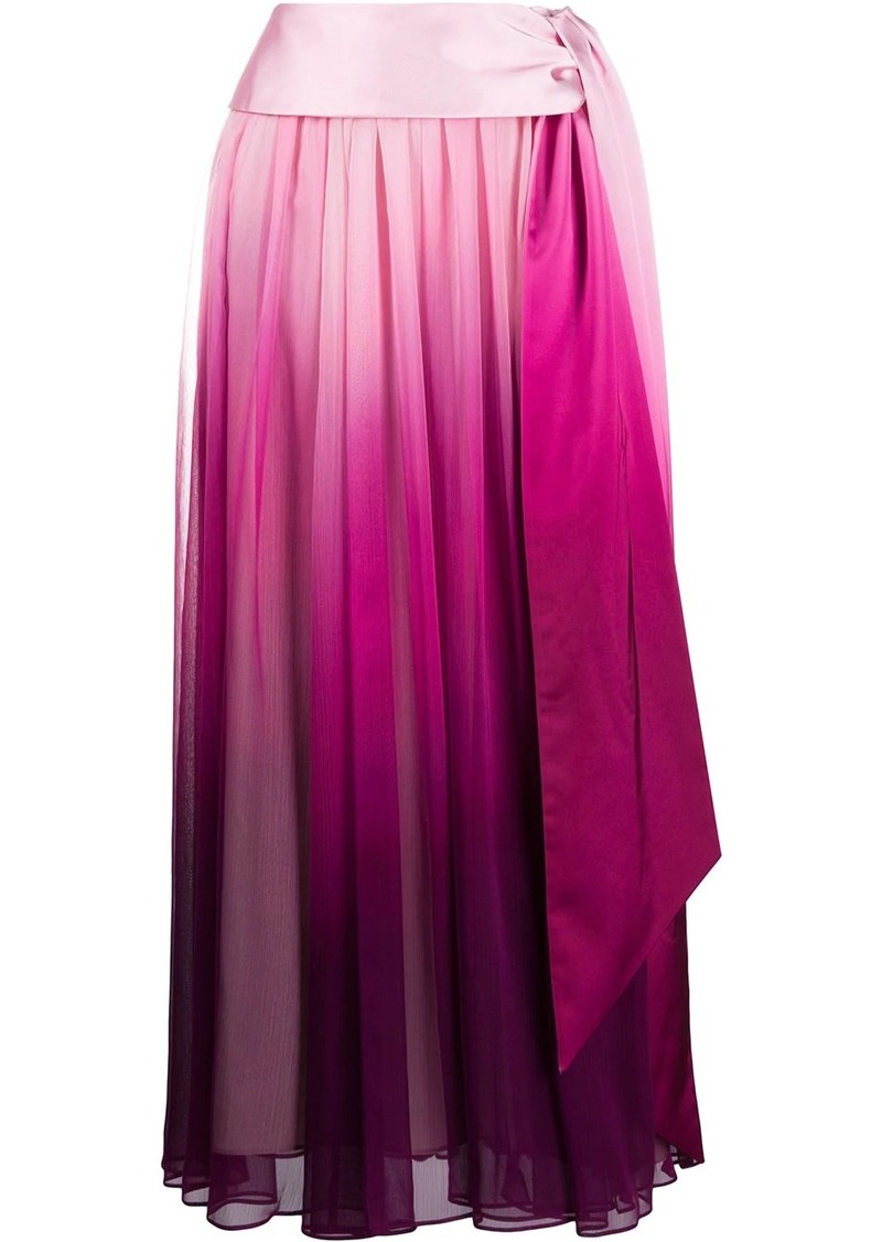 Jonathan Simkhai tie-waist ombré pleated skirt