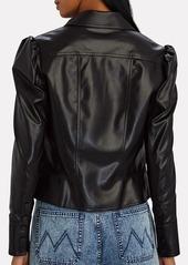 Jonathan Simkhai Vegan Leather Puff Sleeve Jacket