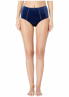 Jonathan Simkhai Velvet High-Waisted Bikini