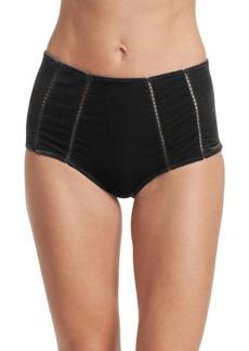 Jonathan Simkhai Velvet High Waisted Bikini Bottom