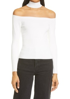 Women's Jonathan Simkhai Lila Cold Shoulder Cutout Sweater