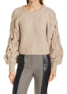 Women's Jonathan Simkhai Open Stitch Detail Wool & Alpaca Blend Sweater
