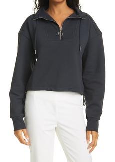 Women's Jonathan Simkhai Standard Organic Cotton Quarter Zip Sweatshirt