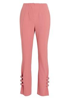 Jonathan Simkhai Wool-Blend Buckled E-Cig Trousers
