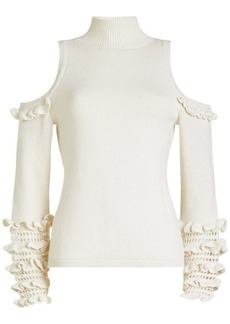 Jonathan Simkhai Wool Pullover with Cold Shoulders