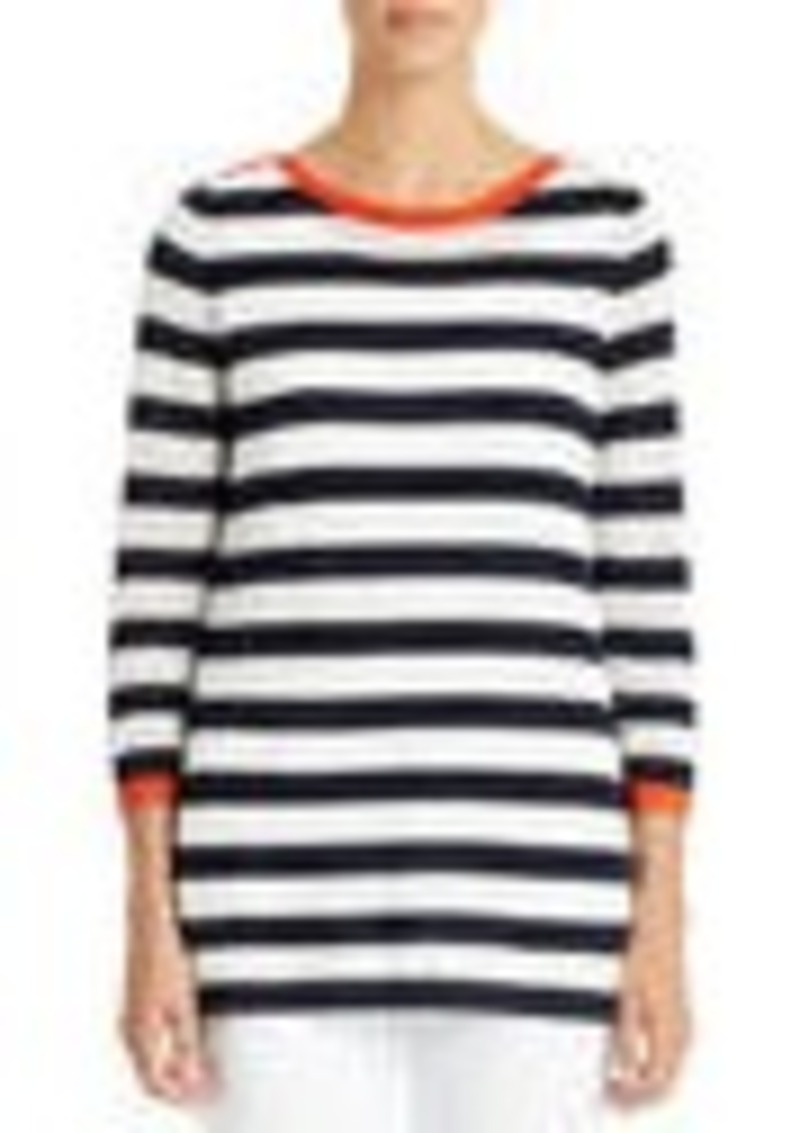 Jones New York 3/4-Sleeve Boat Neck Tunic