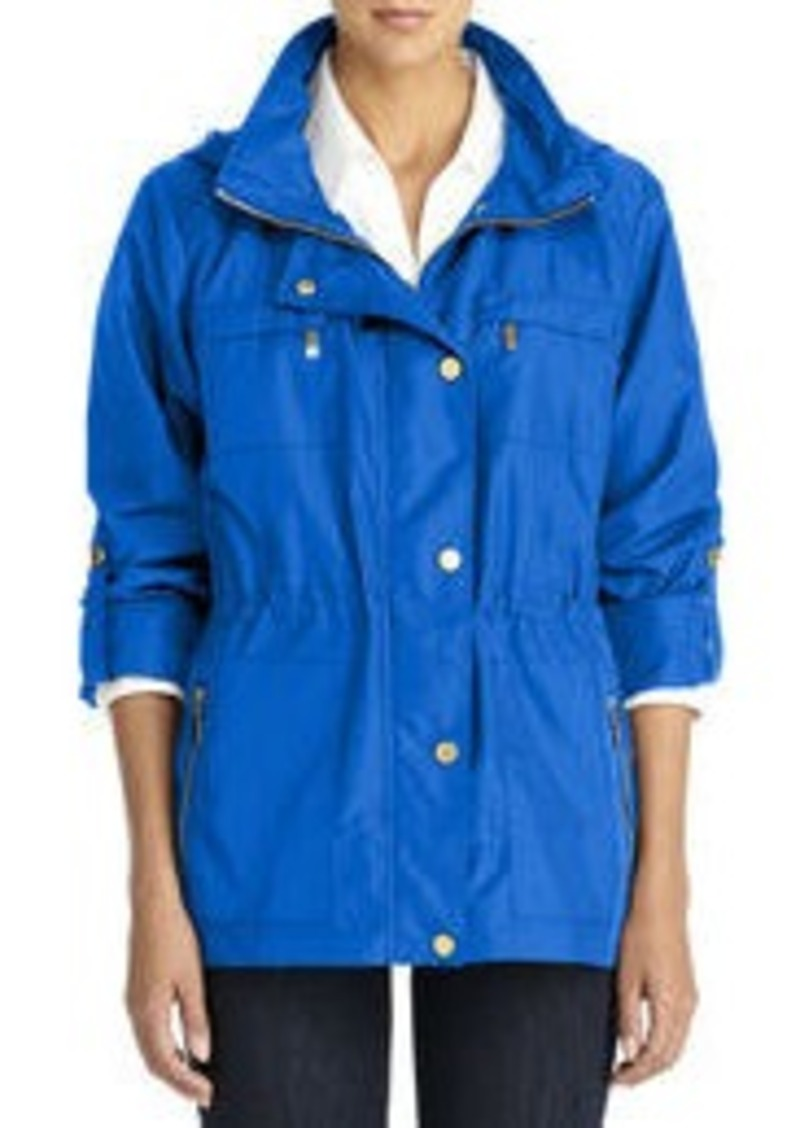 Jones New York Anorak Jacket with Hood and Roll Sleeves (Petite)