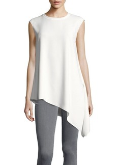 Jones New York Asymmetrical-Hem Crepe Tunic