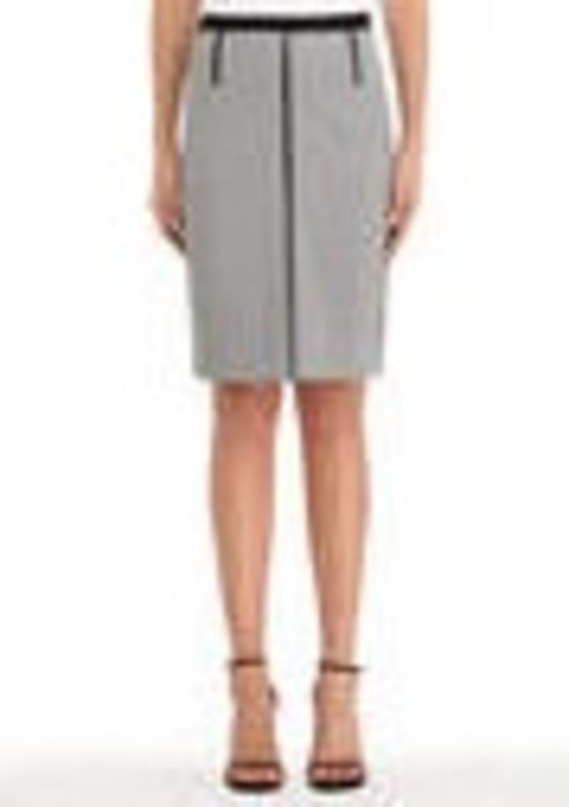 Jones New York Black and Ivory Ponte Knit Colorblocked Skirt