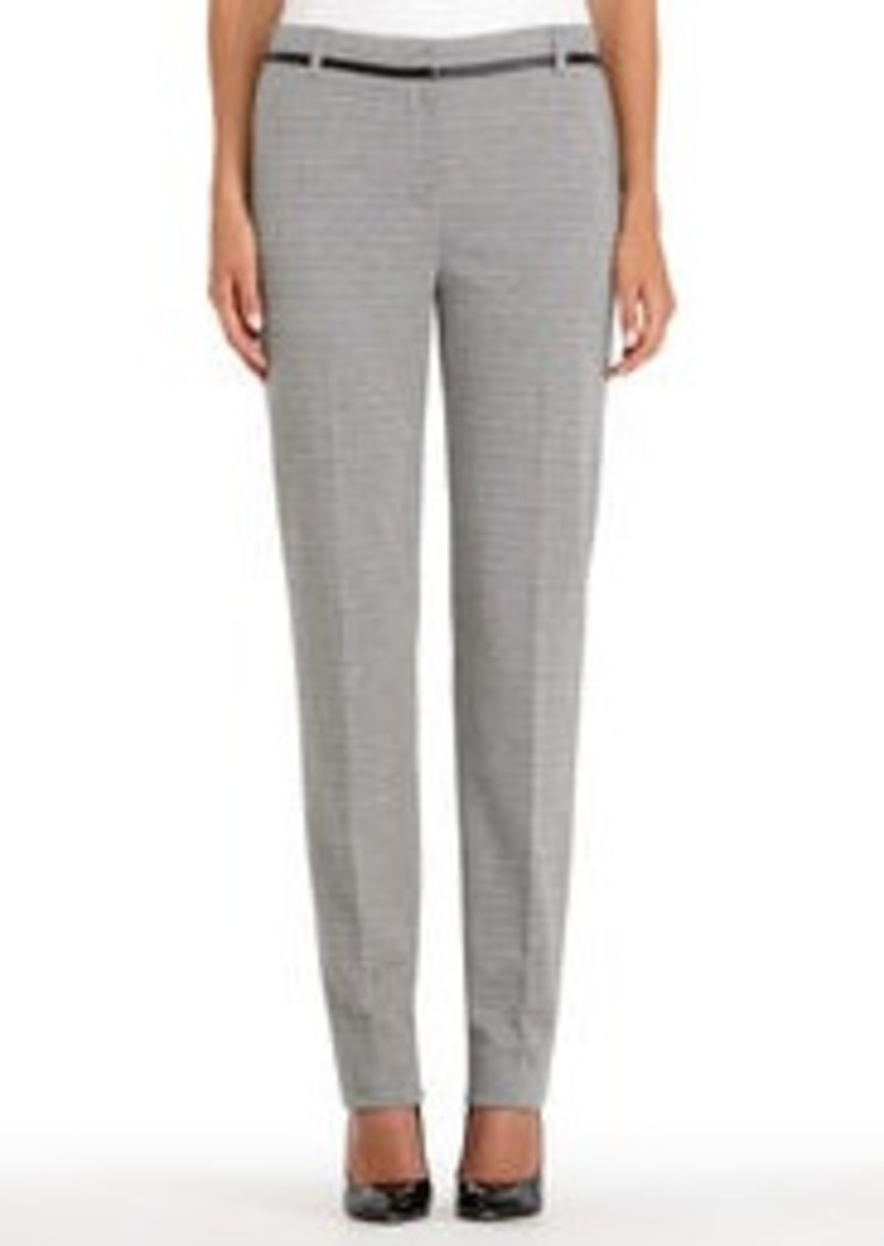Jones New York Black and Ivory Ponte Knit Pants