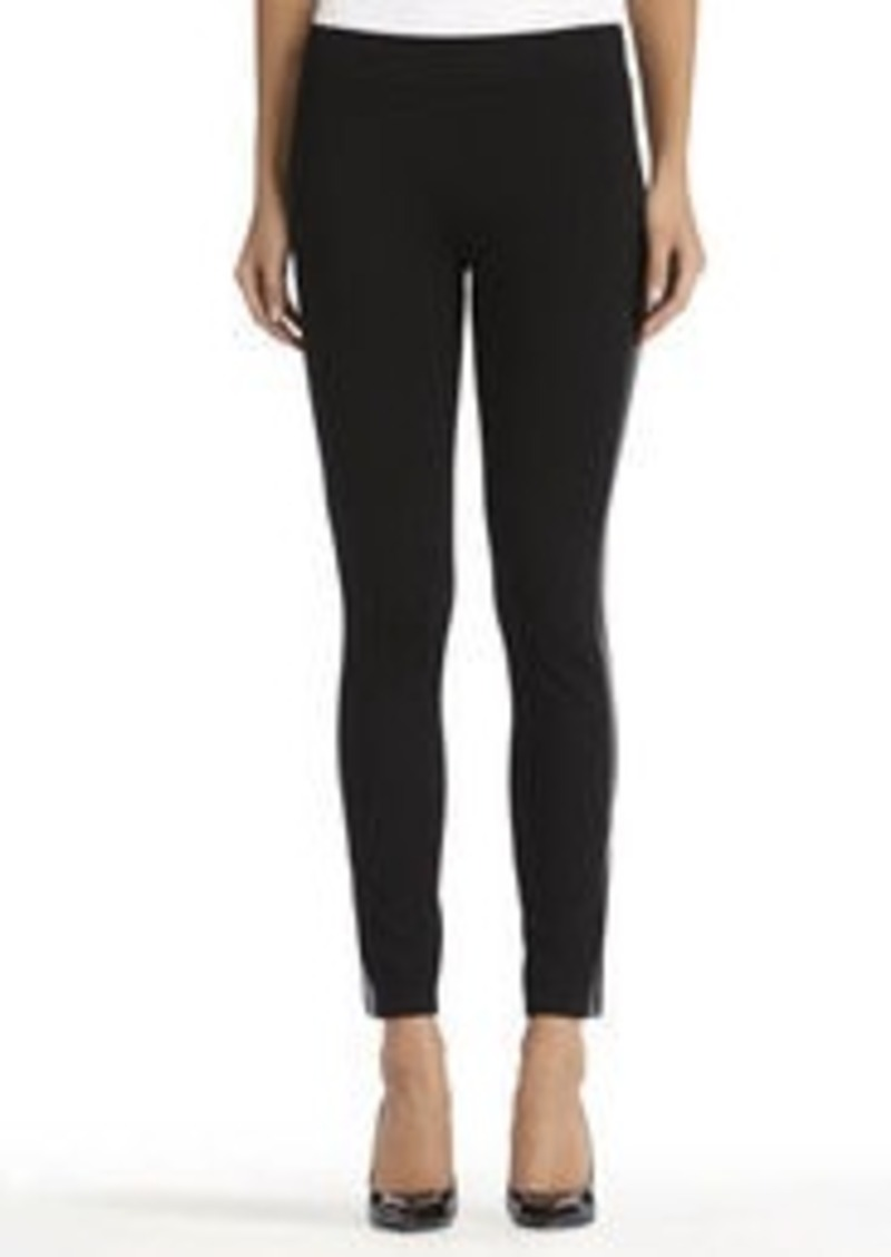 Jones New York Black Mixed Media Leggings (Petite)