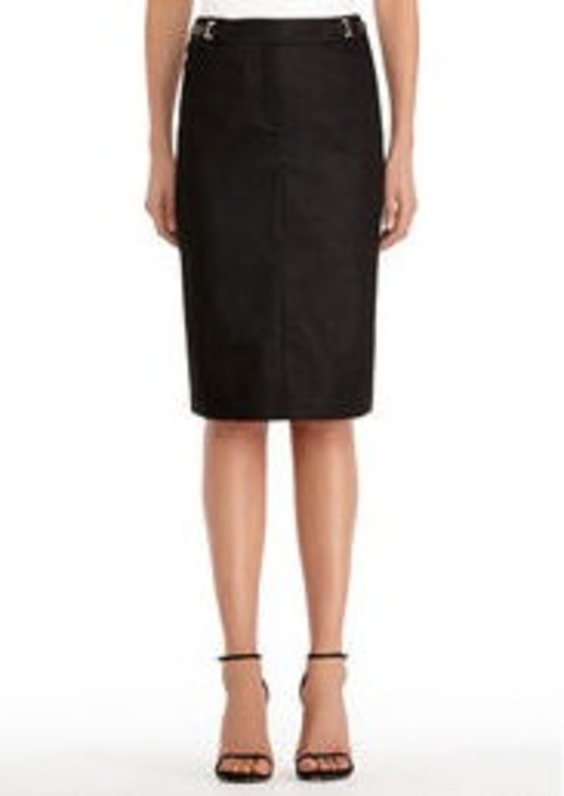 Jones New York Black Pencil Skirt with Buckles