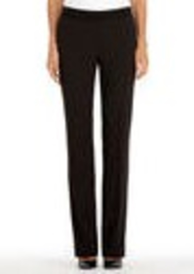 Jones New York Black Pinstripe Pants with Flared Legs
