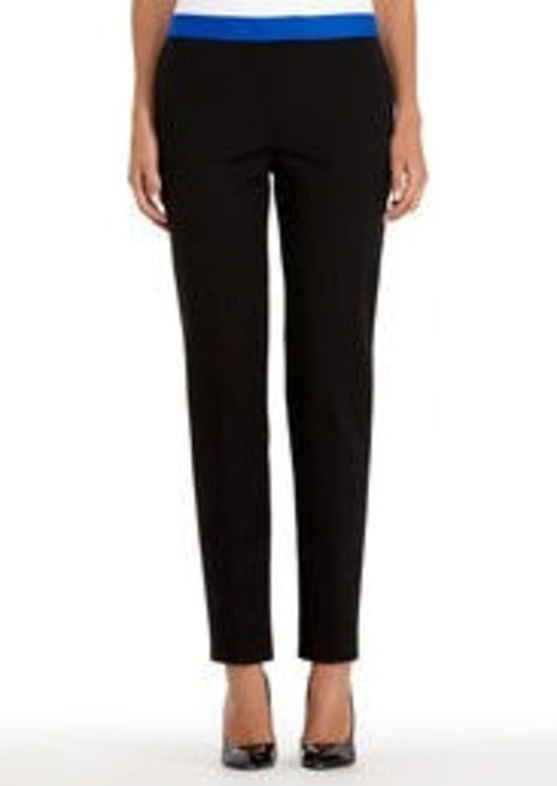 Jones New York Black Stretch Cotton Slim Dress Pants (Petite)