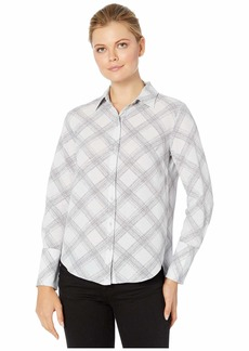 Jones New York Button Front Blouse with Tall Cuffs