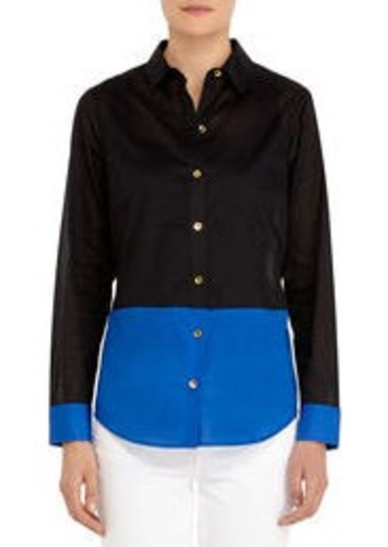 Jones New York Color Blocked Blouse (Petite)