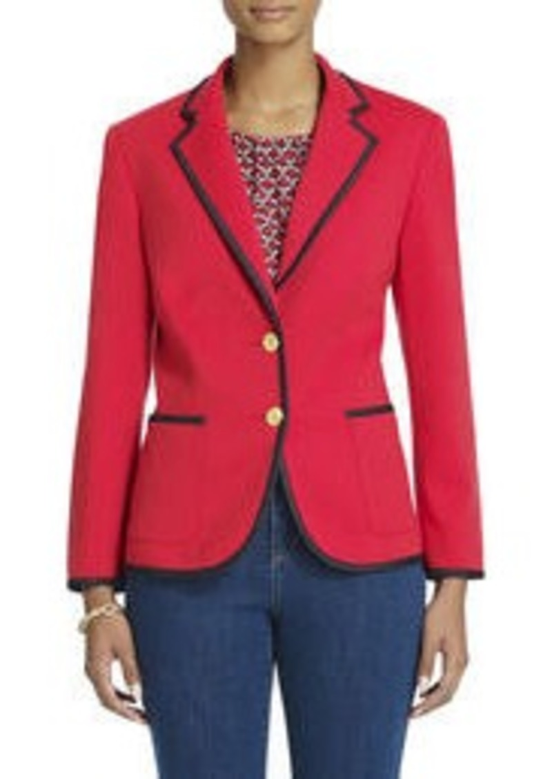 Jones New York Contrast Tipped Blazer