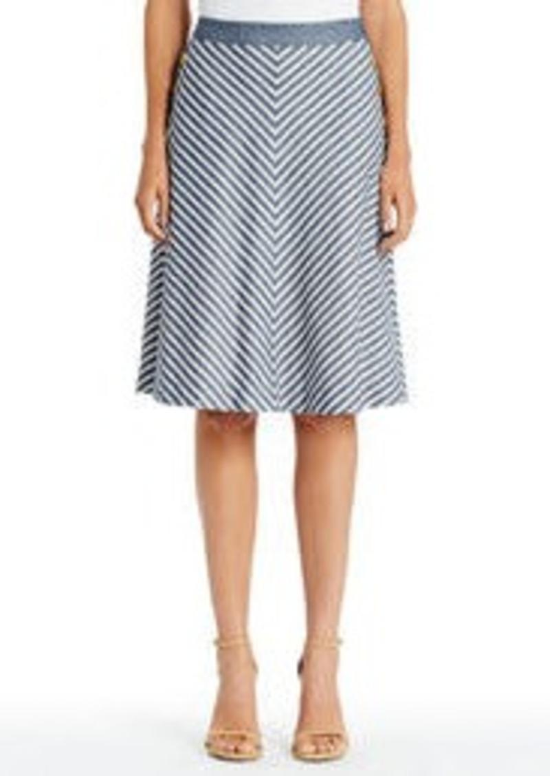 Jones New York Cotton and Linen Sailor Skirt