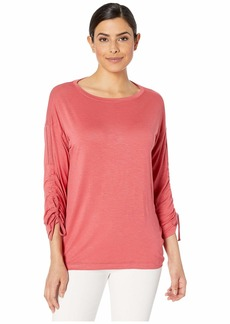 Jones New York Drawstring Sleeve Top