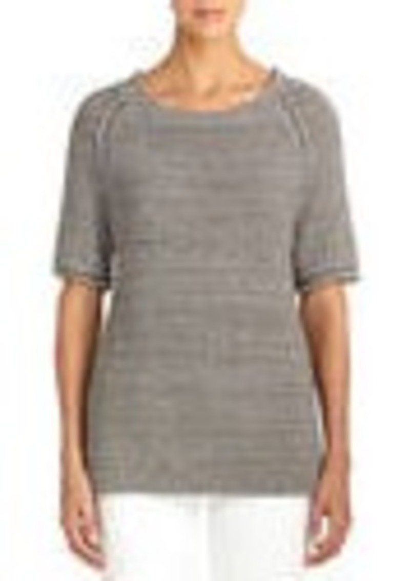 Jones New York Elbow Length Raglan Sleeve Sweater