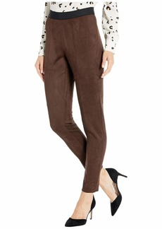 Jones New York Faux Suede Leggings with Elastic Waistband