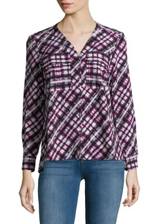 JONES NEW YORK Abstract-Print Blouse