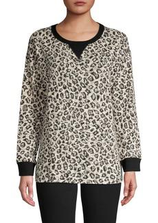 JONES NEW YORK Abstract-Print V-Inset Sweatshirt