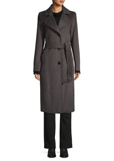 JONES NEW YORK Belted Wool-Blend Wrap Coat