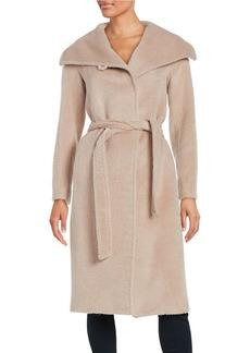 JONES NEW YORK Belted Wrap Wool-Blend Coat